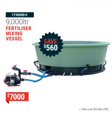 Tank with tapered base 9000ltr